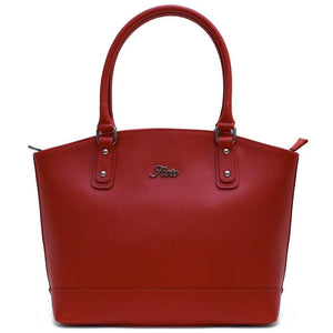 Floto Italian Saffiano Leather Handbag Piana Women's Shoulder bag red