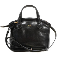 Load image into Gallery viewer, leather handbag purse floto pienza black monogram