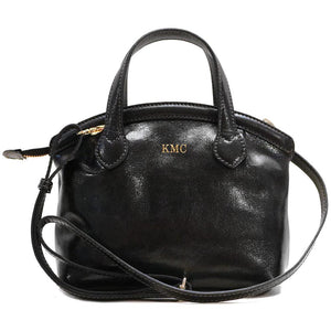 leather handbag purse floto pienza black monogram
