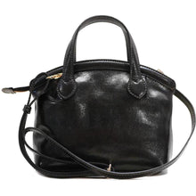 Load image into Gallery viewer, leather handbag purse floto pienza black