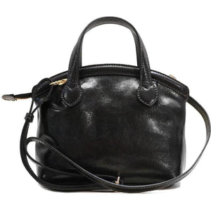 leather handbag purse floto pienza black