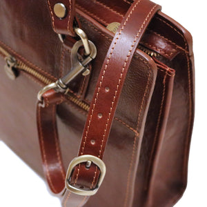Leather Handbag Floto Roma Italian Leather Bag close