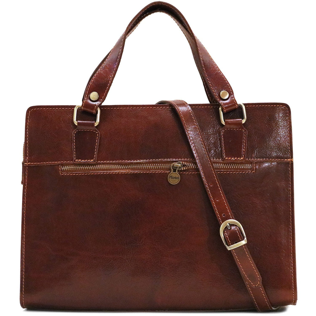 Leather Handbag Floto Roma Italian Leather Bag in brown