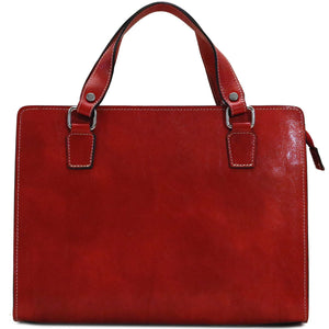 Leather Handbag Floto Roma Italian Leather Bag back