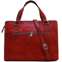 Load image into Gallery viewer, Leather Handbag Floto Roma Italian Leather Bag red