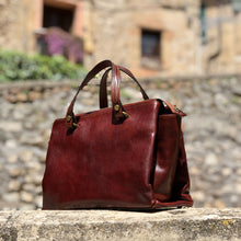 Load image into Gallery viewer, Leather Handbag Floto Sesto Italian Women's Purse Bag Tuscany Italy