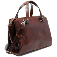 Load image into Gallery viewer, Leather Handbag Floto Sesto Italian Women's Purse Bag brown 2