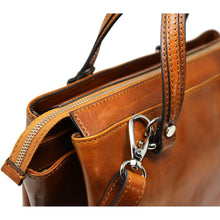 Load image into Gallery viewer, Leather Handbag Floto Sesto Italian Women's Purse Bag clip