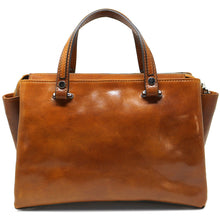 Load image into Gallery viewer, Leather Handbag Floto Sesto Italian Women's Purse Bag olive honey brown