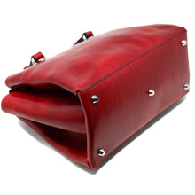 Load image into Gallery viewer, Leather Handbag Floto Sesto Italian Women's Purse Bag red bottom