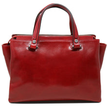 Load image into Gallery viewer, Leather Handbag Floto Sesto Italian Women's Purse Bag red