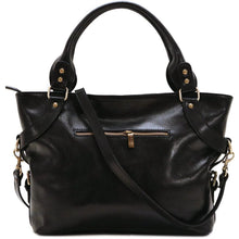 Load image into Gallery viewer, Floto Italian Leather Shoulder Bag Women's Taormina Handbag black
