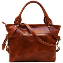 Load image into Gallery viewer, Floto Italian Leather Shoulder Bag Women's Taormina Handbag olive brown