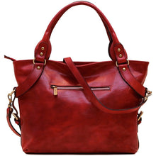 Load image into Gallery viewer, Floto Italian Leather Shoulder Bag Women's Taormina Handbag red