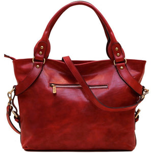Floto Italian Leather Shoulder Bag Women's Taormina Handbag red