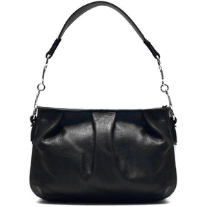 leather hobo satchel shoulder bag floto black