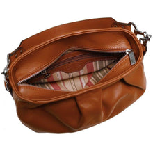 Load image into Gallery viewer, firenze leather hobo bag floto inside