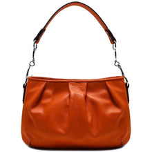 Load image into Gallery viewer, leather hobo satchel shoulder bag floto orange