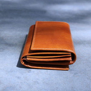 Roma Checkbook Leather Wallet top