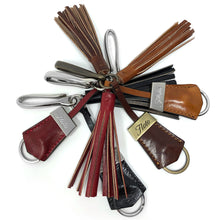 Load image into Gallery viewer, Floto Italian Leather Tassle Keychains