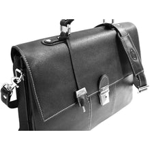 Load image into Gallery viewer, Floto Venezia Saffiano Leather Laptop Briefcase in Black