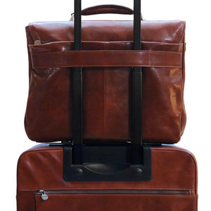 Leather Laptop Briefcase Messenger Bag Floto