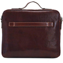 Load image into Gallery viewer, Leather Laptop Computer Case Bag Floto Milano back