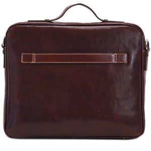 Leather Laptop Computer Case Bag Floto Milano back