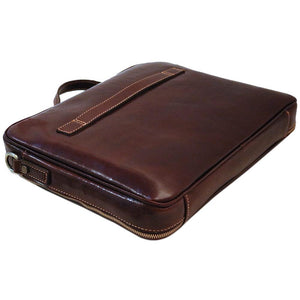 Leather Laptop Computer Case Bag Floto Milano bottom