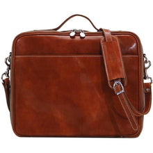 Load image into Gallery viewer, Leather Laptop Computer Case Bag Floto Milano olive