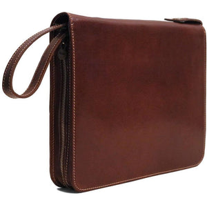 Floto leather laptop case portfolio padfolio brown