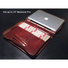 "Load image into Gallery viewer, Floto leather laptop case macbook 15"" pro"