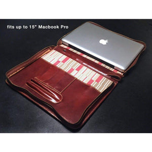 "Floto leather laptop case macbook 15"" pro"