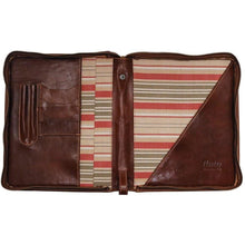 Load image into Gallery viewer, Floto leather laptop case portfolio padfolio brown