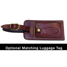 Load image into Gallery viewer, Floto leather luggage tag brown