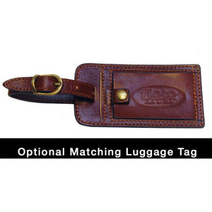 Floto leather luggage tag brown