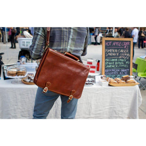 leather messenger bag floto parma