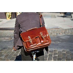 leather messenger bag poste