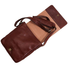 Load image into Gallery viewer, leather messenger satchel floto siena field bag brown