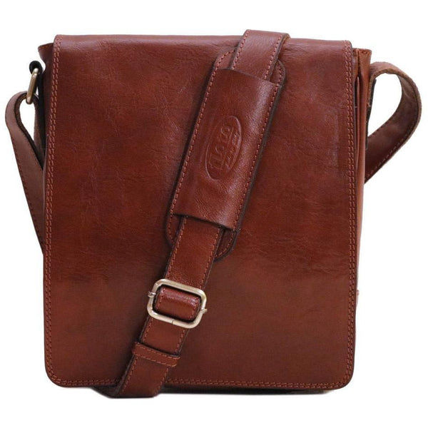 leather messenger satchel floto siena field bag brown