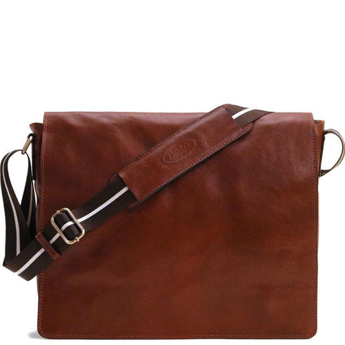 leather messenger bag satchel floto siena vecchio brown