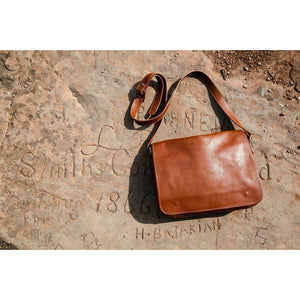 leather messenger bag floto toscana