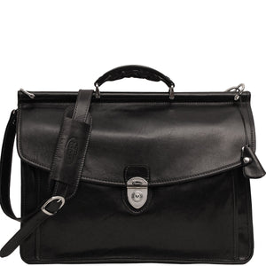 Floto Italian leather briefcase Firenze Dowell men's bag black
