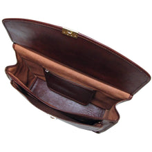 Load image into Gallery viewer, leather briefcase floto brown