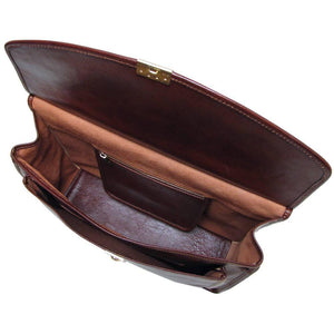 leather briefcase floto brown