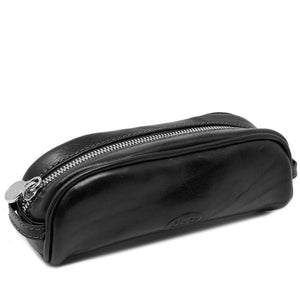 Floto Italian Leather Pencil Case black
