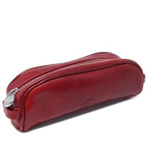 Floto Italian Leather Pencil Case red