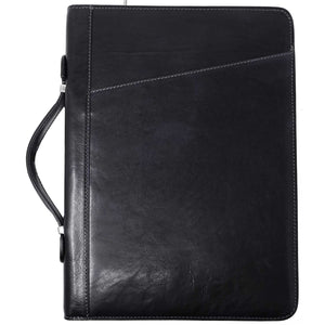 Floto Portofino Italian leather portfolio document organizer folder briefcase padfolio black
