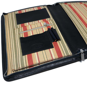 Floto Portofino Italian leather portfolio document organizer folder briefcase padfolio black inside