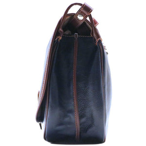 Leather Saddle Bag Floto Procida blue